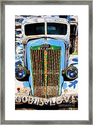 Gods Truck Framed Print