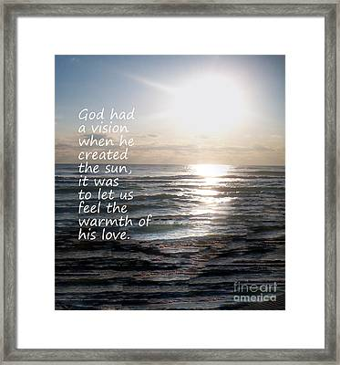 Gods Vision Framed Print by Jeffery Fagan
