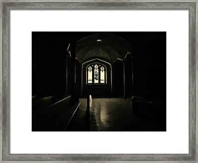 God's Window Framed Print by Victoria Fischer
