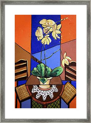 Gods Yellow Orchids Framed Print by Anthony Falbo