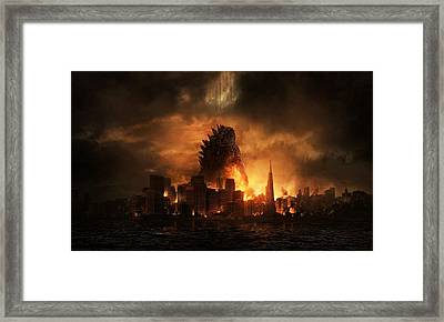 Godzilla 2014 B Framed Print by Movie Poster Prints