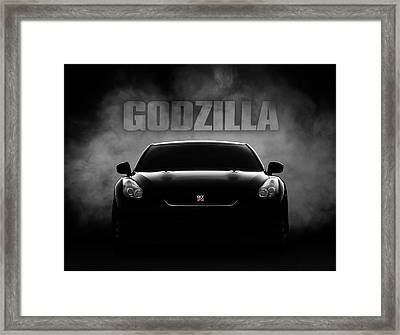 Godzilla Framed Print by Douglas Pittman