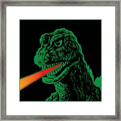 Godzilla Framed Print by Gary Grayson