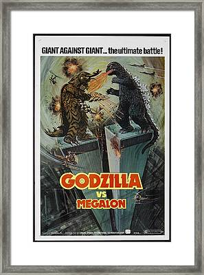 Godzilla Vs Megalon Poster Framed Print by Gianfranco Weiss