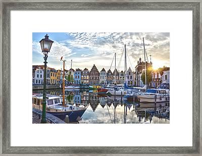 Goes Harbour Framed Print