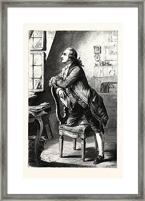 Goethe At Home. Johann Wolfgang Von Goethe 28 August 1749 Framed Print by English School