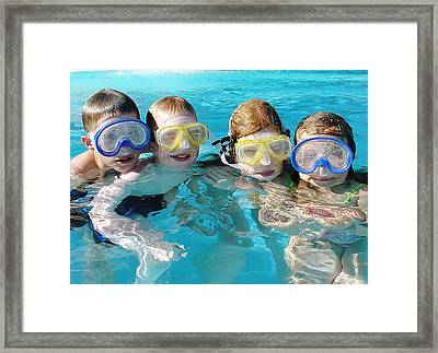 Framed Print featuring the photograph Goggle Eyed Quartet by David Nicholls