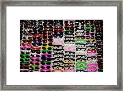 Goggles Framed Print by Money Sharma