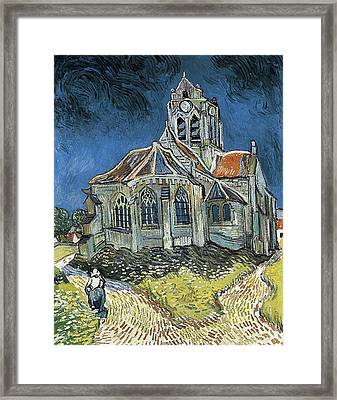 Gogh, Vincent Van 1853-1890. The Church Framed Print by Everett