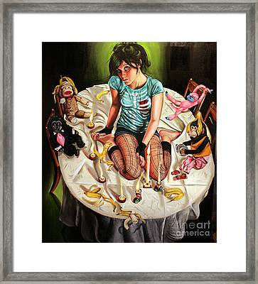Goin Bananas Framed Print by Shelley Laffal