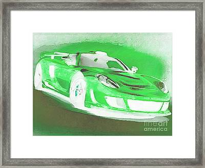 Goin Glow Green Framed Print by Catherine Lott