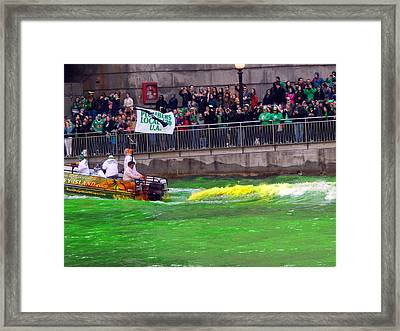 Goin Green Framed Print