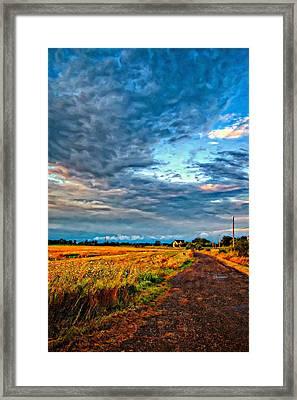 Goin' Home Oil Framed Print by Steve Harrington