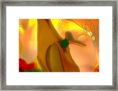 Going Bananas Framed Print by Omaste Witkowski