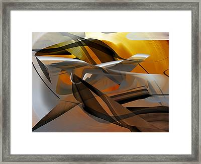 Framed Print featuring the digital art Going Brown Abstract by rd Erickson