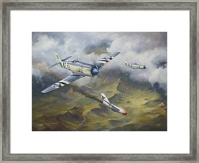 'going Down' Framed Print