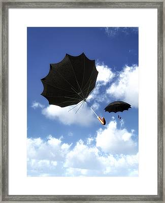 Going Down Fast And Slow Framed Print by Bob Orsillo