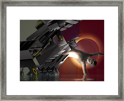 Going Down In The Walnut River Flood #2_p Framed Print by Stephen Donoho