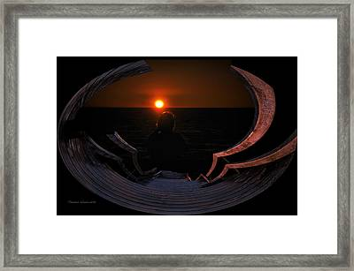 Going Down Oval Image Framed Print