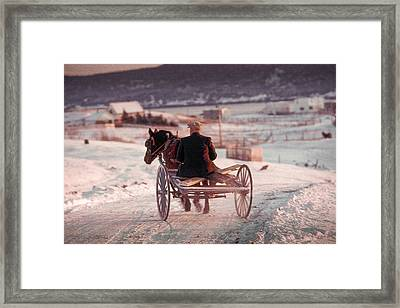Going Down The Road Framed Print by Douglas Pike
