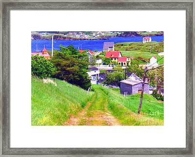 Going Down To Town Framed Print
