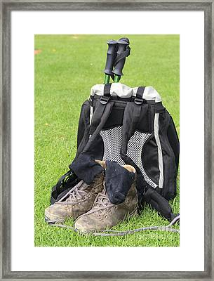 Going For A Hike Framed Print by Patricia Hofmeester