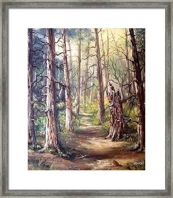 Framed Print featuring the painting Going For A Walk by Megan Walsh