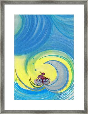 Going For It By Jrr Framed Print by First Star Art