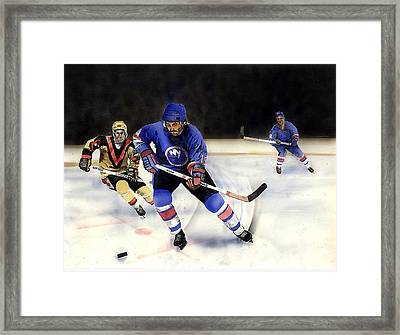 Going For It Framed Print by Todd Spaur