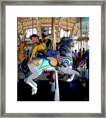 Going For The Brass Ring Framed Print by Charles Shoup