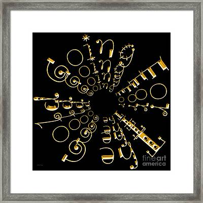 Going For The Gold 2 Framed Print by Andee Design