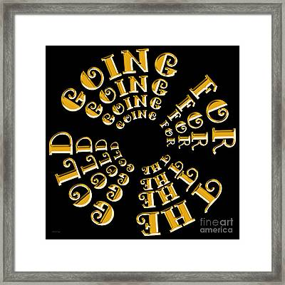 Going For The Gold 3 Framed Print by Andee Design