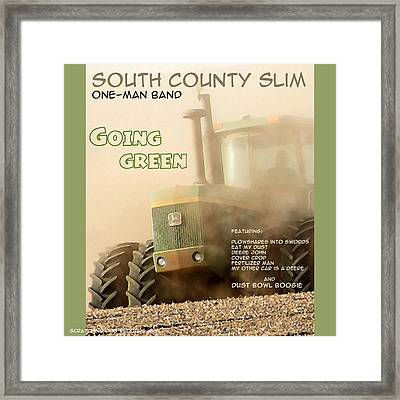 Going Green - South County Slim Framed Print by Everett Bowers