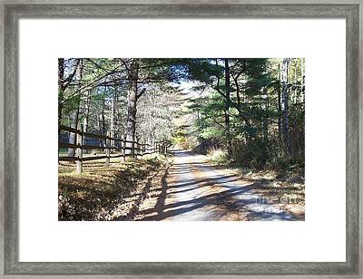 Going Home By Angela Clay Framed Print by Angelia Hodges Clay