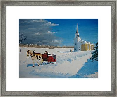 Going Home From Church Framed Print by Norm Starks