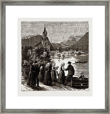 Going Home From Church, Norway Framed Print by Litz Collection