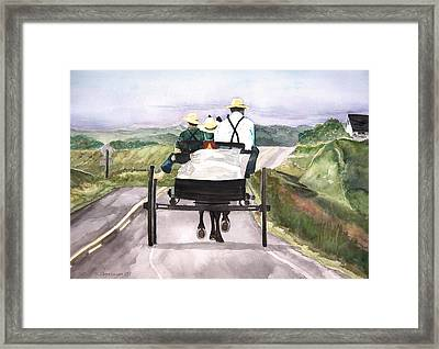 Going Home From Market Framed Print by Susan Crossman Buscho