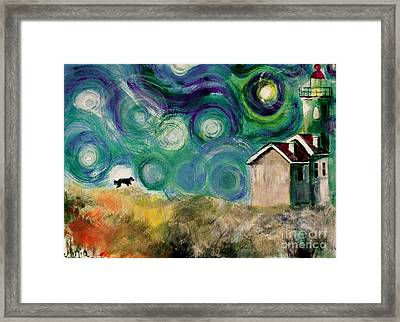 Framed Print featuring the painting Going Home by Maja Sokolowska