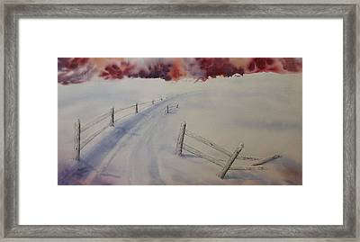 Framed Print featuring the painting Going Home by Richard Faulkner