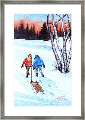 Going Home Framed Print by Ruth Bodycott