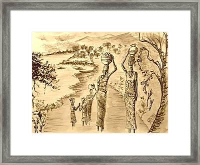 Going Home Sepia Framed Print