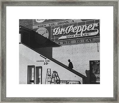Going In Colored Entrance Of Movie House On Saturday Framed Print by Historic Photos