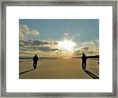 Going My Way With Friends On Vacation Framed Print by Cindy Croal