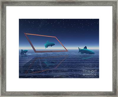 Framed Print featuring the digital art Going No Where  by Jacqueline Lloyd