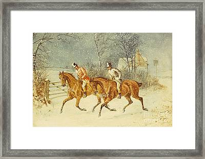 Going Out In A Snowstorm Framed Print