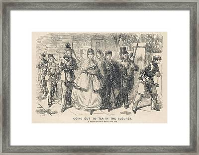 'going Out To Tea In The  Suburbs Framed Print by Mary Evans Picture Library