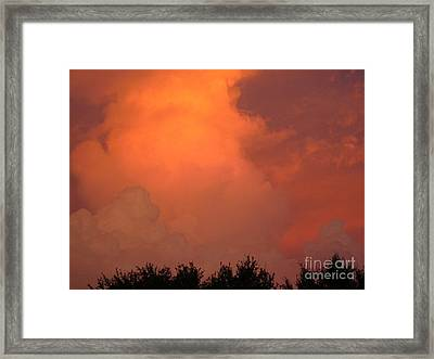 Going Out With A Boom Framed Print