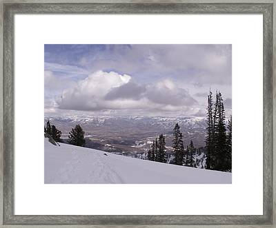 Going Over The Edge Framed Print