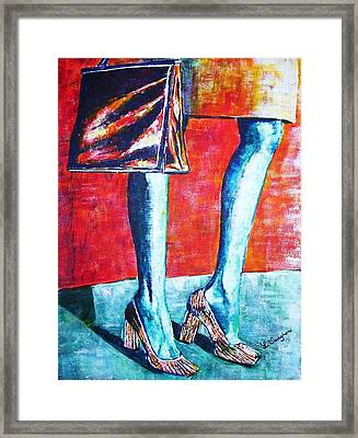 Going Shopping Framed Print by Linda Vaughon