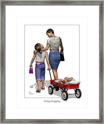 Going Shopping Framed Print